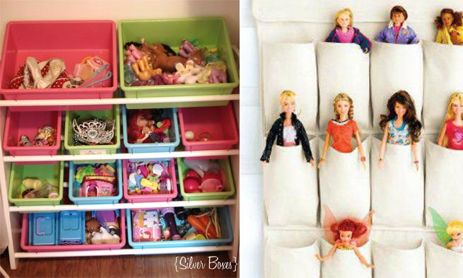 Ideias para guardar os brinquedos das crianças