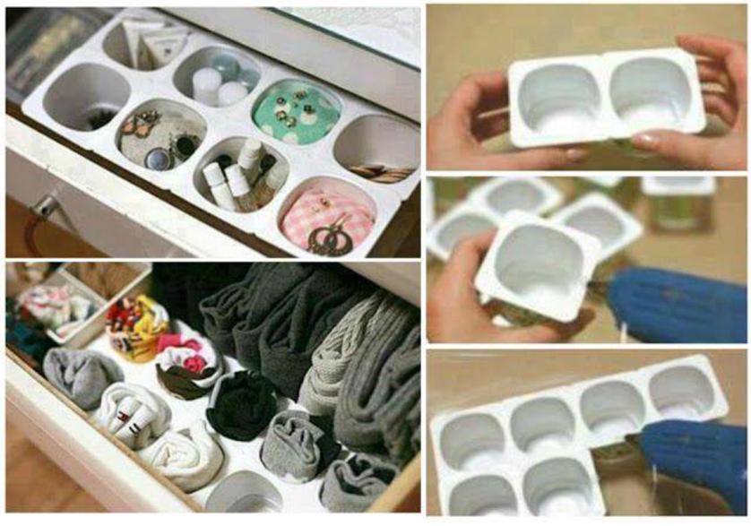 Organizando com forminhas de gelo