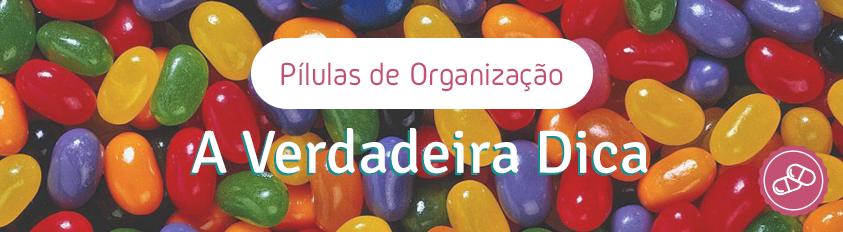 Pílulas de Organização – A Verdadeira Dica da Organização