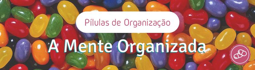 Pílulas de Organização – A Mente Organizada